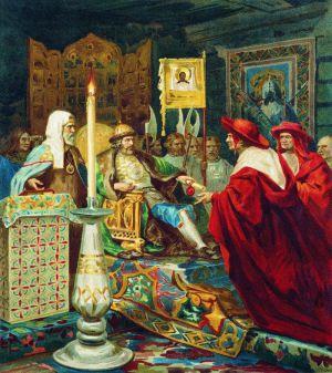 Генрих Семирадский. «Князь Александр Невский принимает папских легатов». 1876