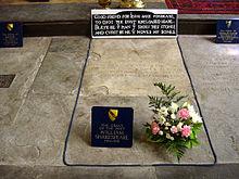 Надгробие на могиле Шекспира