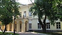 Дом А.И.Талызина наНикитском бульваре, где последние годы жил и работал Гоголь; здесь был сожжён второй том «Мёртвых душ»; здесь писатель скончался.