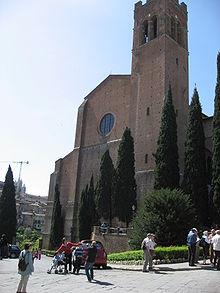 Базилика Сан-Доменико в Сиене впоследствии станет местом упокоения частиц мощей святой Екатерины