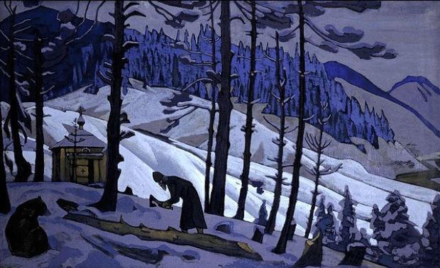 Н.К.Рерих. Сергий-строитель. 1925