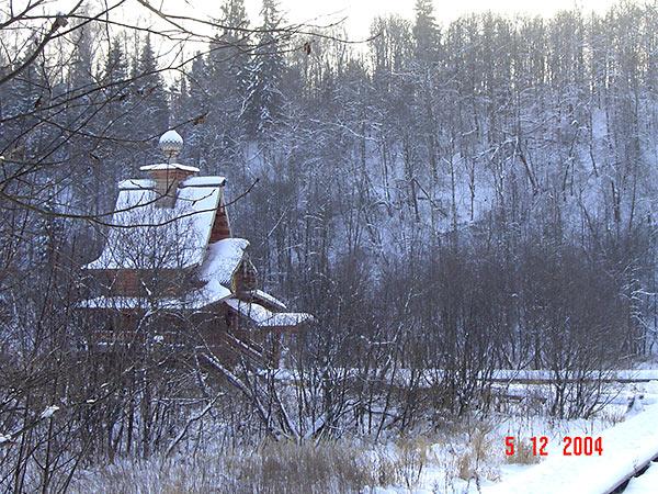 Новая часовня, построенная на месте сожжённой