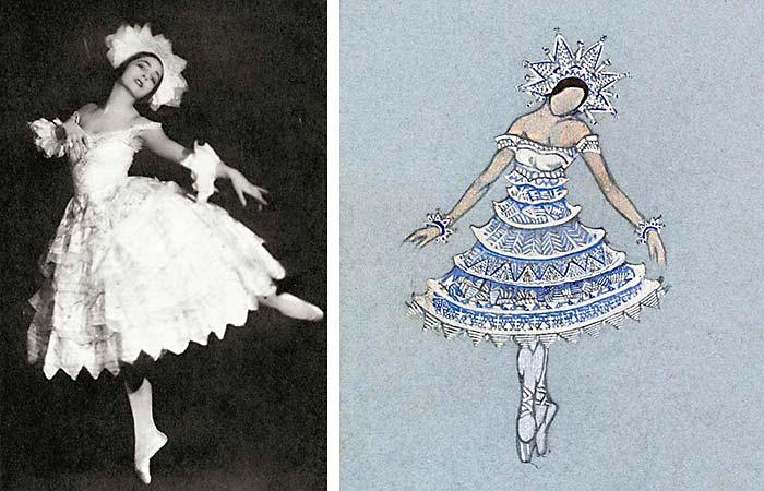 Рут Пейдж в костюме Снежинки.С.Н. Рерих. СНЕЖИНКА. Эскиз костюма. 1923