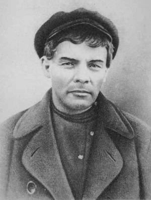 Ленин в гриме во время последнего подполья. Карточка на удостоверении на имя рабочего К. П. Иванова, по которому Ленин жил нелегально после июльских дней 1917 г.