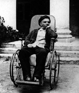 В. И. Ленин во время болезни. Подмосковные Горки. 1923 год.