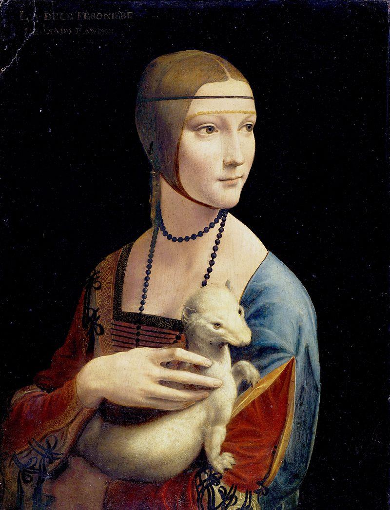 Леонардо да Винчи, «Дама с горностаем», 1490, Музей Чарторыйских, Краков