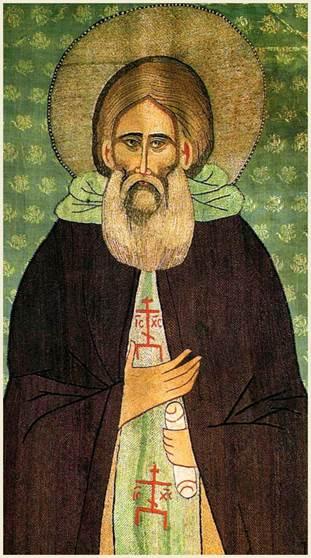 Преподобный Сергий Радонежский. Надгробный покров. 1420-е