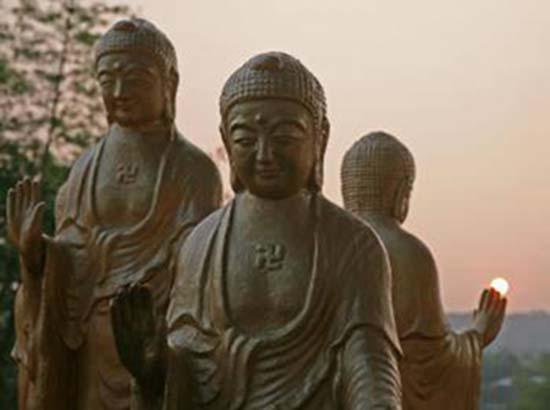 Статуи Будд. Тайвань