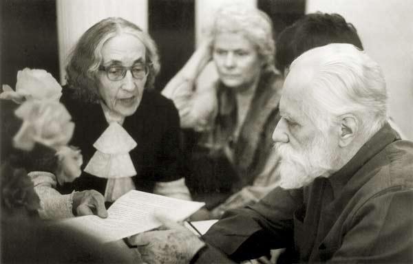 Н.Д.Спирина на встрече с С.Н.Рерихом. Москва. 1984