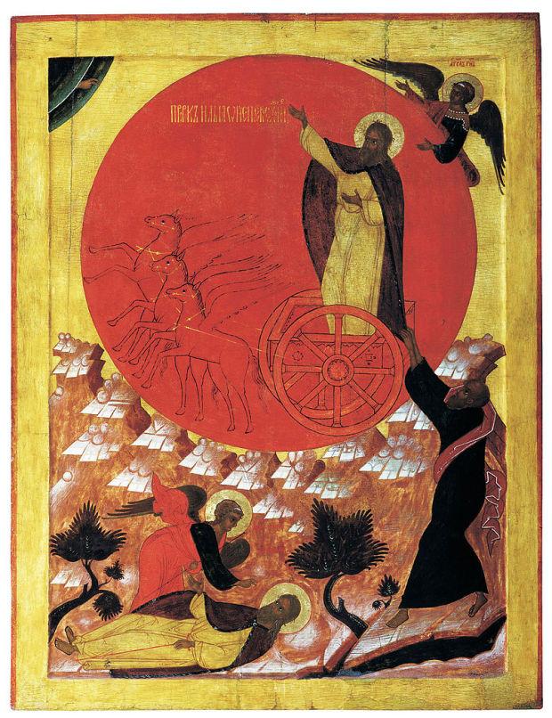 Огненное восхождение Ильи-пророка. Великий Устюг. 1570-е годы