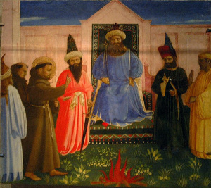 Святой Франциск перед султаном  1440-е, Темпера, дерево. 26 х 31 см. Музей Линданау, Альтенбург