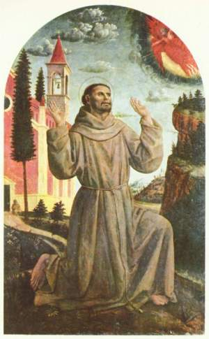 Винченцо Фоппа, Святой Франциск принимает стигматы. Пинакотека Брера, Милан