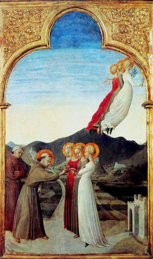 Обручение св. Франциска с Госпожой Бедностью. Худ. Сассетта