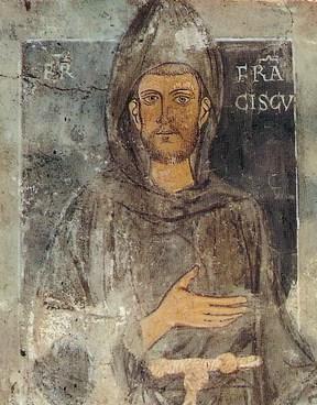 Старейшее из известных изображений Франциска, созданное ещё при его жизни; находится на стене монастыря св. Бенедикта в Субиако