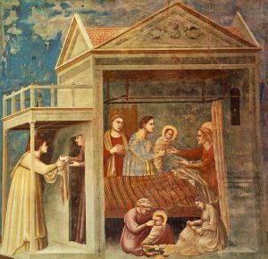 Рождество Богородицы.Фреска Джотто