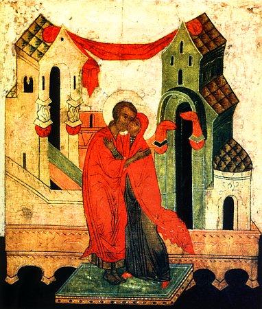 Зачатие праведной Анны, икона XV века