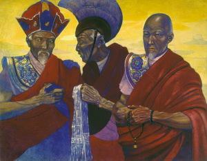 С.Н. Рерих. Тибетские ламы. 1920-1930-е гг. Международный Центр-Музей имени Н.К. Рериха Москва, Россия