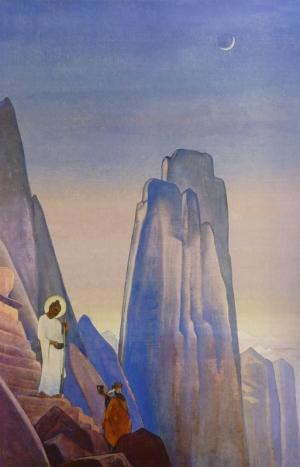 Н.К. Рерих. Будда дающий (Две Чаши) (1932) Бхарат Кала Бхаван, Бенаресский индуистский университет, Варанаси, Индия