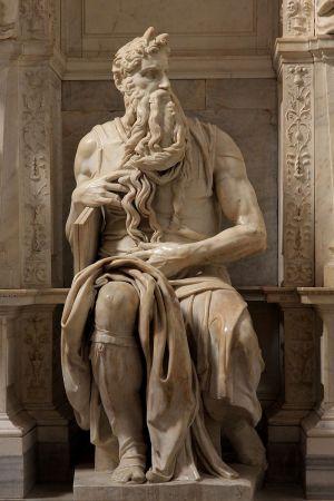 Моисей. 1515. Мрамор. Высота 235 см.,  Сан-Пьетро-ин-Винколи, Рим