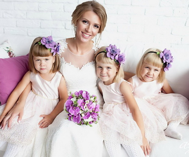 Людмила Кудрявцева с дочерьми