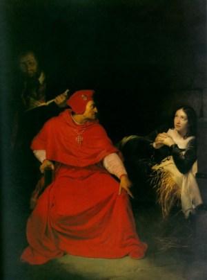 Допрос Жанны кардиналом Винчестера (Поль Деларош, 1824 год)