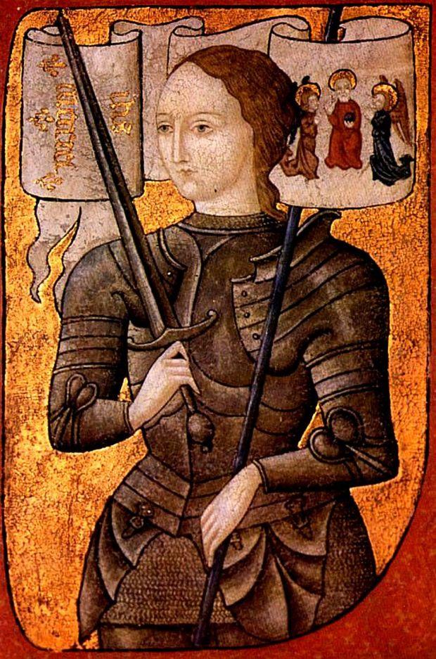 Жанна д'Арк. Миниатюра второй половины XV в.