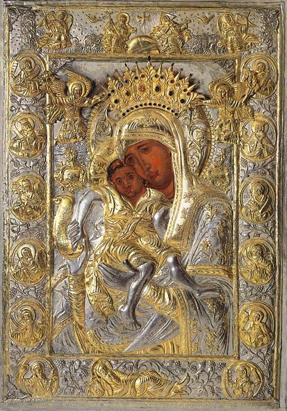 """Чудотворная икона Божией Матери """"Достойно есть"""". Афон. Карея."""
