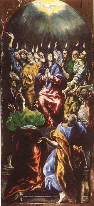 Эль Греко. «Сошествие Святого Духа на апостолов».