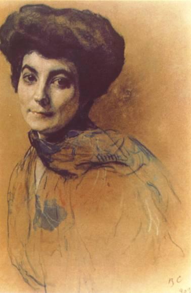 В.Серов. Портрет Елены Ивановны Рерих. 1909