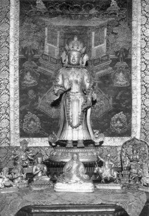 Будда Майтрейя. Из собрания Музея Рериха в Нью-Йорке, 1930-е