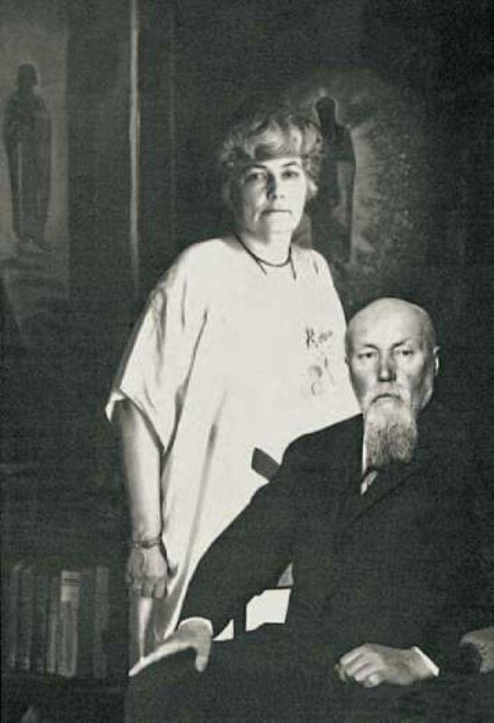Елена Ивановна и Николай Константинович Рерихи. 1930-е гг. Кулу, Индия