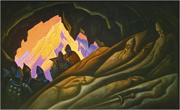 Н.К.Рерих. Богатыри проснулись. 1940