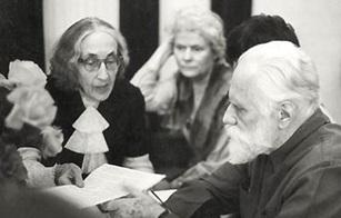 Слева направо: Н. Д. Спирина, М. Н. Валл, С. Н. Рерих. Москва, 1984 http://rossasia.sibro.ru/voshod/article/27517