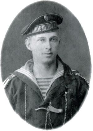 Курсант военно-морского училища Б.Н. Абрамов. Кронштадт, 1910-е гг.