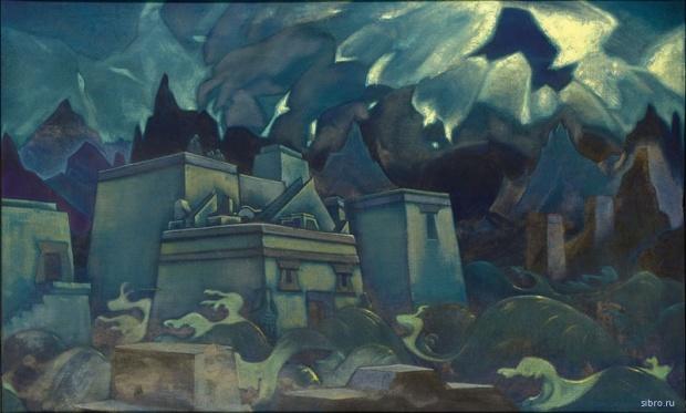 Н.К. Рерих. Гибель Атлантиды. 1929