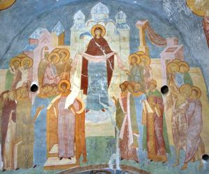 Покров Богоматери. Дионисий. Роспись собора Рождества Богородицы Ферапонтова монастыря, 1502 год