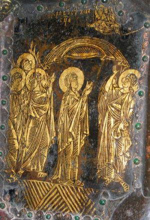 Западные врата Богородице-Рождественского собора города Суздаля 1227—1238 год. Владимиро-Суздальский музей-заповедник. Фрагмент.