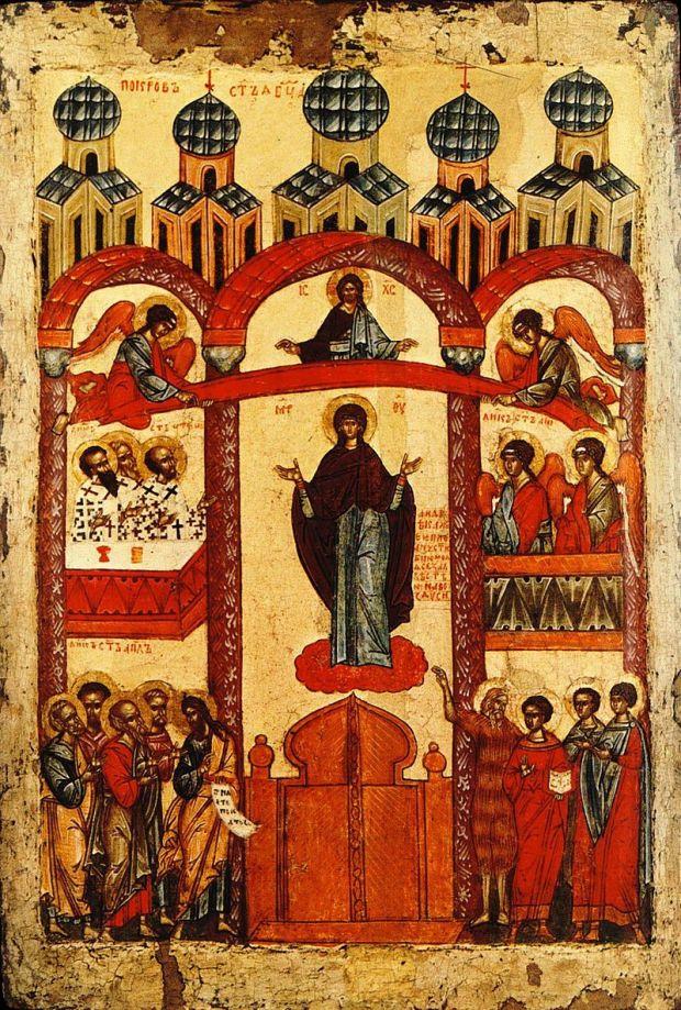 Покров Пресвятой Богородицы (новгородская икона)