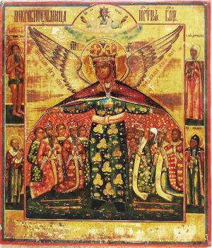 Икона Божией Матери, называемая «Покровительница». XIX в.