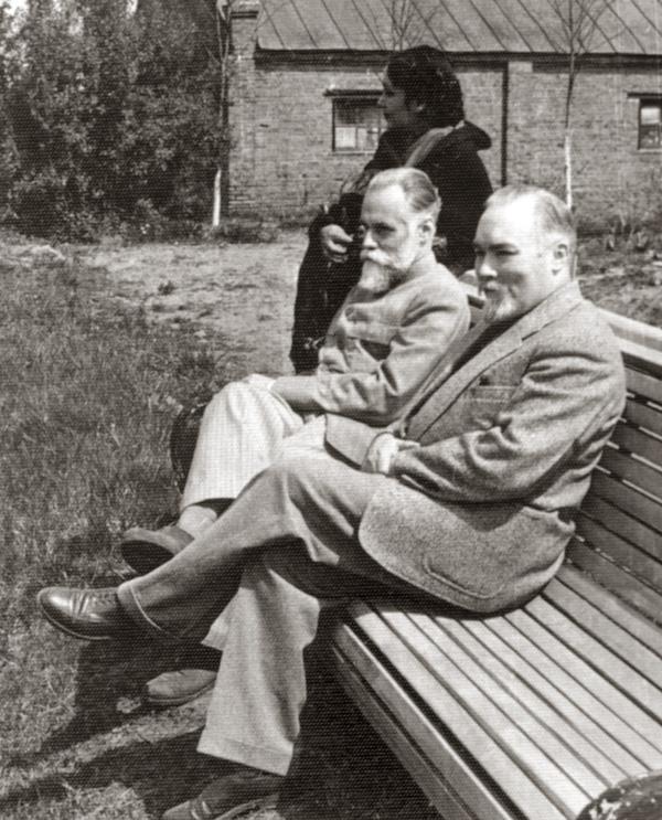 Девика Рани, С.Н. Рерих, Ю.Н. Рерих. Москва, май 1960 г.