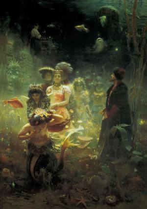 Илья Репин. Садко.  1876.  Государственный Русский Музей, Санкт Петербург, Россия.