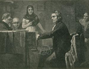 Л. Богел. Бетховен играет Лунную сонату