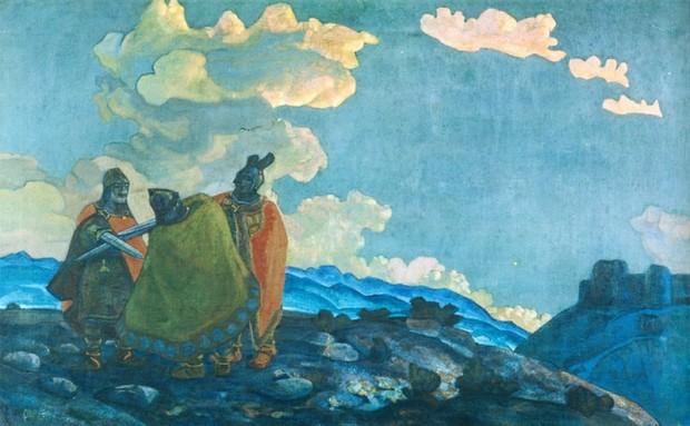 Н.К. Рерих, Короны, 1914