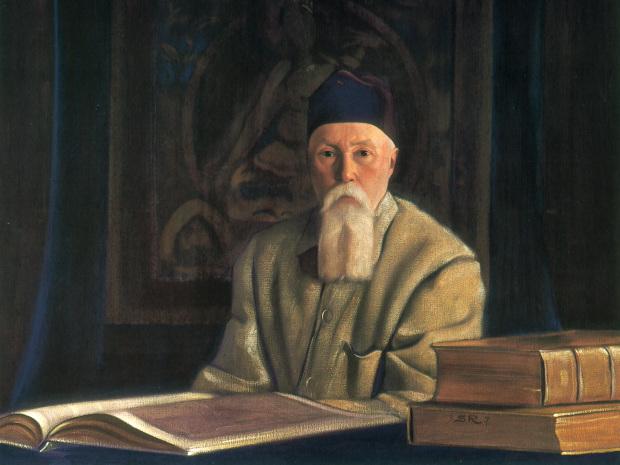 Святослав Рерих. Портрет академика Н. К. Рериха. 1937