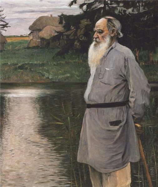 М.Нестеров. Портрет Л.Н.Толстого. 1907 г.