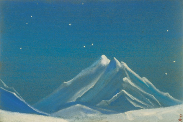 Н.К.Рерих. Ночь. Эверест. 1938