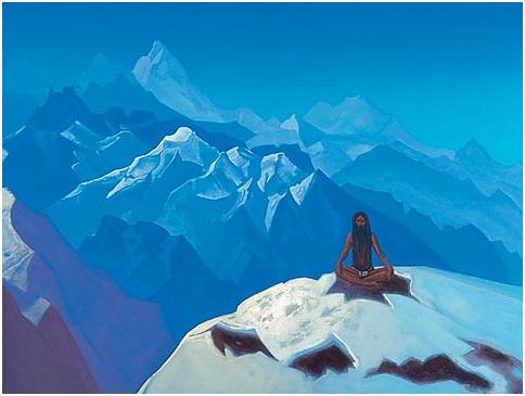 Н. К. Рерих. «На высотах. Тумо». 1936