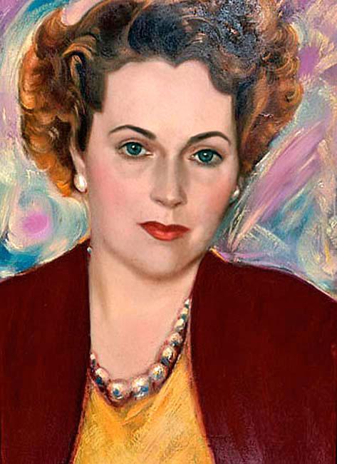 Портрет Кэтрин Кэмпбелл, 1950. С.Н.Рерих