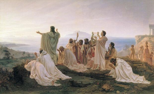 Гимн пифагорейцев восходящему солнцу, 1869. Бронников Федор Андреевич