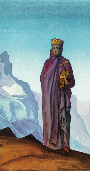 Н.К. Рерих. ДЕРЖАТЕЛЬНИЦА МИРА (КАМЕНЬ НЕСУЩАЯ). Фрагмент. 1933